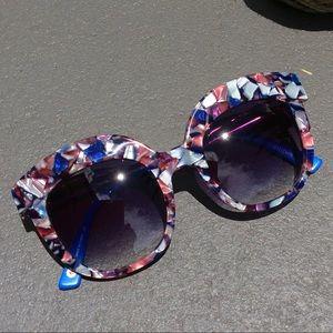ANTHROPOLOGIE ett:twa Oversized Cat Eye Sunglasses